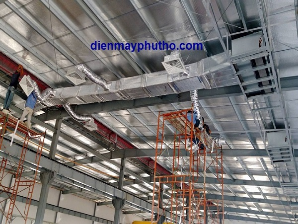 Lắp đặt máy lạnh cho nhà xưởng uy tín - Điện Máy Phú Thọ